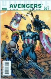 Ultimate Comics Avengers #1 Dynamic Forces Signed Joe Quesada DF COA Ltd 80 Marvel comic book